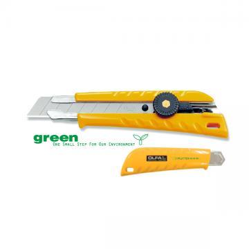 Макетен нож HEAVY, OLFA L 1 GREEN, 18 mm, LB, LBB