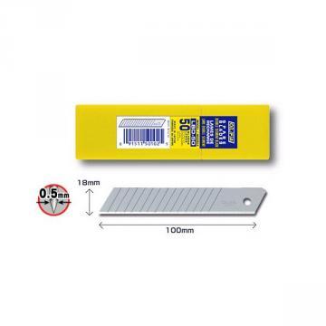 Режеща пластина, OLFA LBD 50, 50 бр.в кутийка